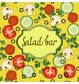 Salad bar template vector image
