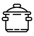 saucepan icon outline style vector image