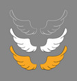 set cartoon wings sketch vector image