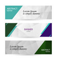 set horizontal bright banners with empty place for vector image vector image
