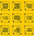 Set of motivational quotes about sleeping heart vector image vector image