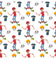 skateboarder active people seamless pattern vector image vector image