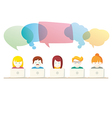 Social Media chat people with computers vector image vector image
