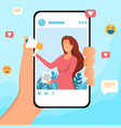 social media influencer vector image