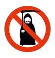 Stop death Grim reaper is prohibited Frozen vector image vector image