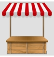 store window with striped awning vector image vector image
