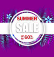 summer sale banner template advertising vector image vector image