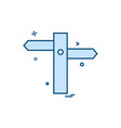 traffic signs board icon design vector image vector image