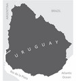 uruguay region map vector image