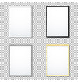 various frame mockup template set vector image vector image