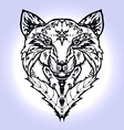 Wild wolf tattoo vector image