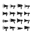 Megaphone announcement loudspeaker icons vector image