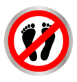 No feet sign vector image