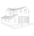 abstract architectural 3d drawing of apartment vector image