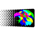 abstract stylization eagle vector image vector image