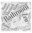 asian themed bathroom accessories Word Cloud vector image vector image