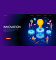 banner innovation concept vector image vector image