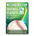 baseball poster design for sport bar vector image vector image