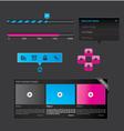 black set web design vector image vector image