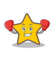 boxing star character cartoon style vector image vector image