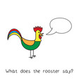 cartoon rooster kids learning game vector image