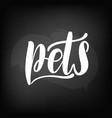 chalkboard blackboard lettering pets handwritten vector image