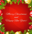 Christmas And Happy New Year Poster vector image vector image