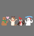 Christmas cute animals banner