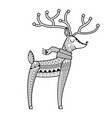christmas deer coloring book vector image vector image