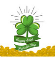 clover patricks day icon vector image vector image
