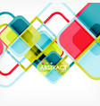 Colorful round squares modern geometric background