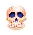 day dead symbol sugar skull with decor vector image vector image