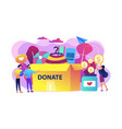 donation concept vector image