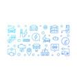 electric vehicle blue banner ev outline vector image vector image