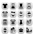 Fashion clothes icons
