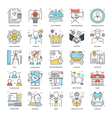 Flat Color Line Icons 5 vector image vector image