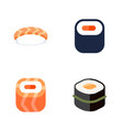 flat icon sushi set of maki oriental seafood and vector image vector image
