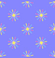 floral pattern on the purple background vector image