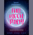 full moon beach party flyer design eps 10 vector image