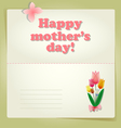 Happy Mothers Day background or card vector image