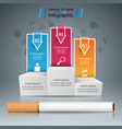 harmful cigarette viper smoke business vector image