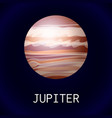 jupiter planet icon cartoon style vector image vector image