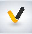 letter v logo check mark logo concept vector image vector image