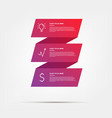 material origami gradient elements color vector image vector image