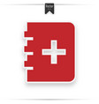 medicine book icon red vector image vector image