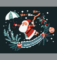 merry christmas and new year celebration santa vector image