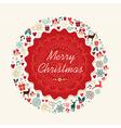 Merry Christmas vintage postal card vector image vector image