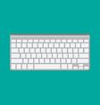 modern aluminum computer keyboard vector image