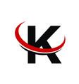 modern icon solution letter k vector image