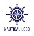 nautical logo template vector image vector image